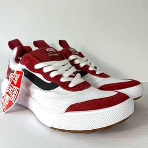 Vans UltraRange Rapidweld Red Dahlia White Shoes